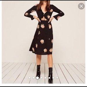 Black reformation floral dress